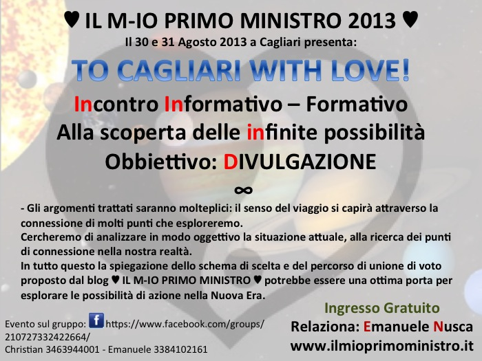 TO CAGLIARI WITH LOVE 2013 LOCANDINA