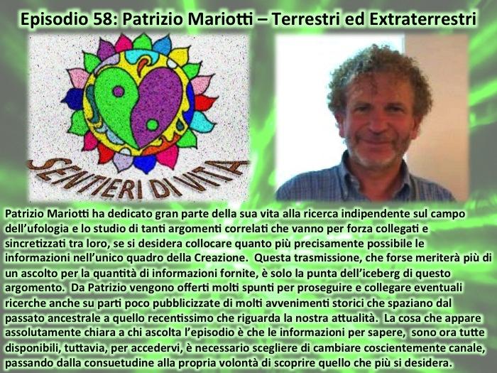 PDC058 Patrizio Mariotti - Terrestri ed Extraterrestri