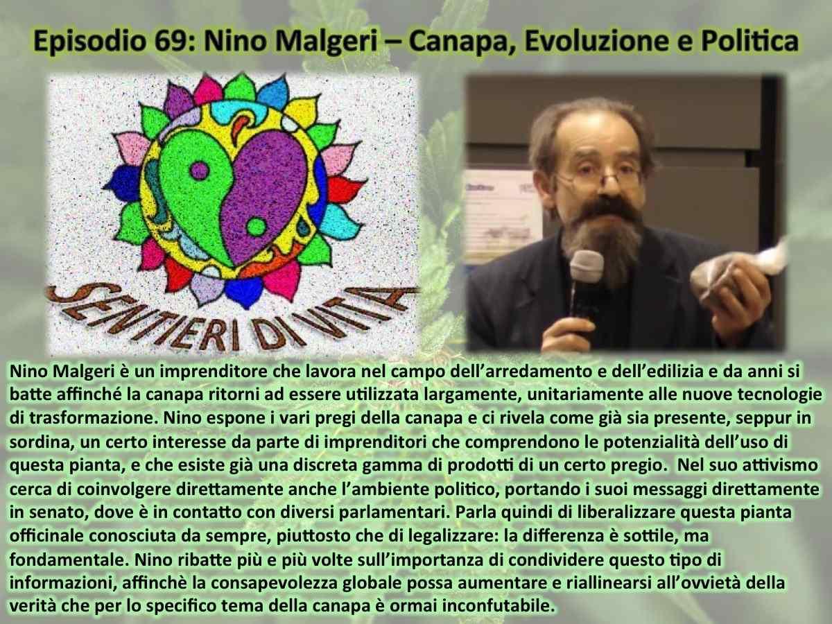 PDC069 Nino Malgeri - Canapa, Evoluzione e Politica
